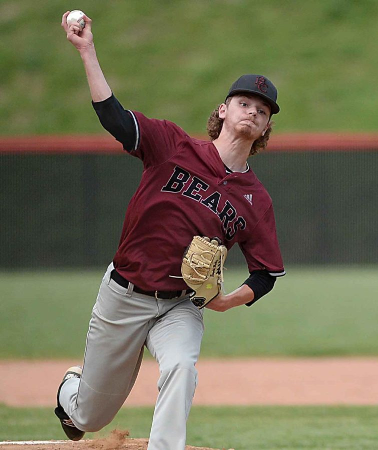 Brayden Blakley pitched a one-hitter Tuesday as Harlan County defeated Bell County 11-1.