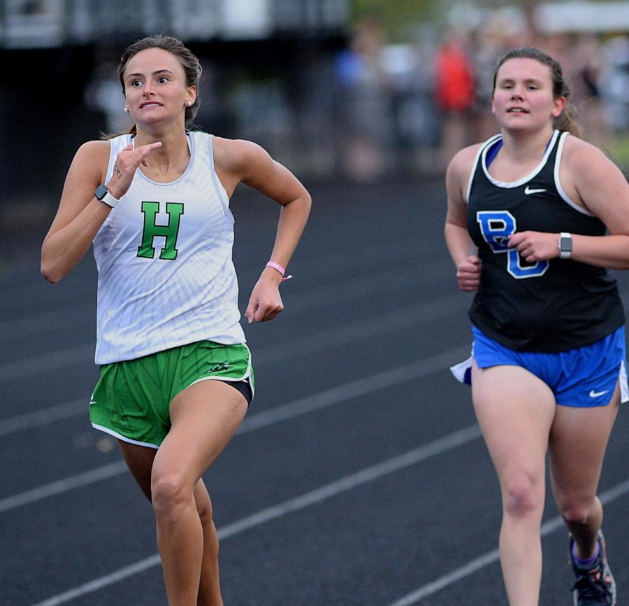 Harlan's Ella Morton competed in Friday's Coal Miners Invitational.