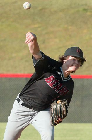 Tristan Cooper, pictured in action earlier this season, was on the mound Saturday as the Black Bears fell 9-4 to Knox Central in the first round of the 13th Region Tournament.