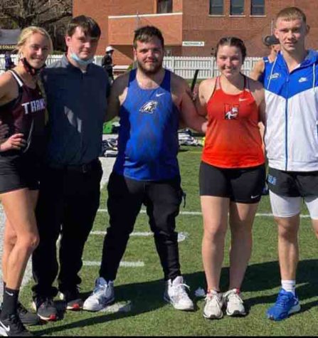 Five former Harlan County High School athletes were in action Saturday in a track meet at Centre College, including Kali Nolan (Transylvania University) AJ Hall and Andrew Crawford (Alice Lloyd College), Morgan Blakley (Union College) and Gabe Price (Alice Lloyd College).