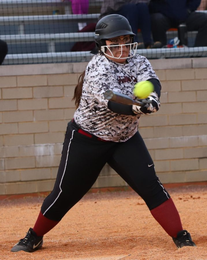 Harlan County catcher Brandy Adams had three of the Lady Bears' five hits in their 2-0 win Friday over Pineville.
