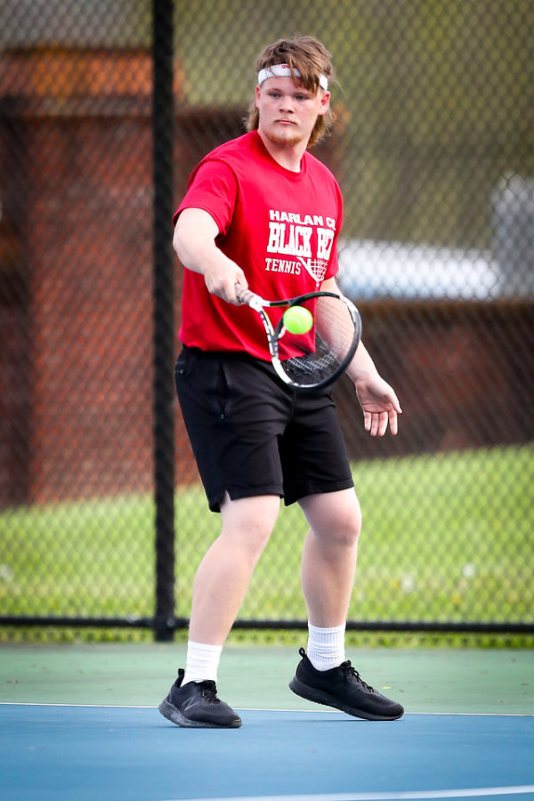 Cody Clayborn helped lead Harlan County to a win on Saturday at Letcher Central as he won his singles match.