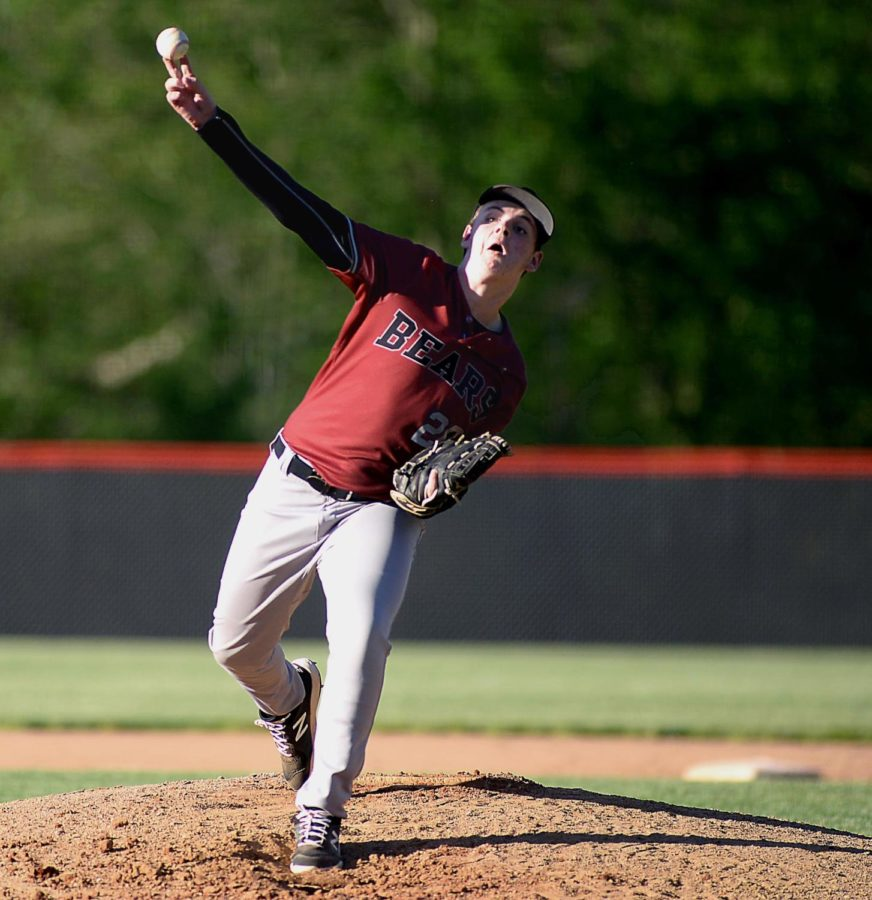 Harlan County junior Karsten Dixon pitched six shutout innings in the Bears' 7-0 win Thursday over visiting Leslie County.