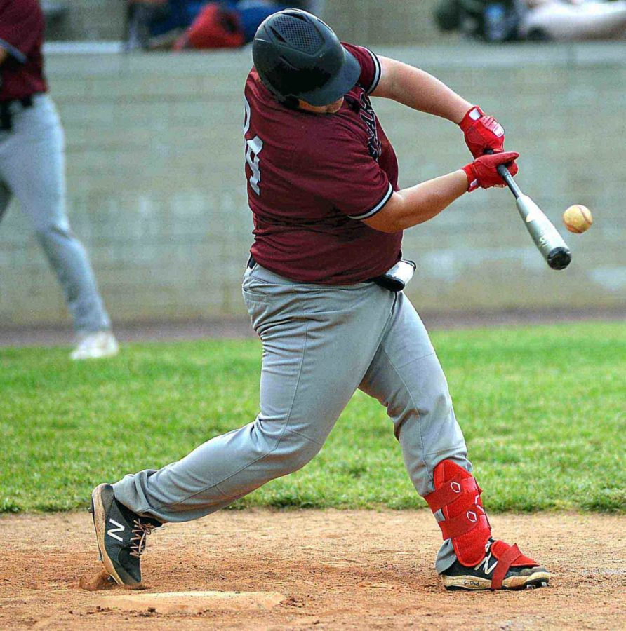 Harlan County freshman first baseman Will Cassim, pictured in action earlier this season, drove in both runs as HCHS edged Knox Central 2-1 on Tuesday.