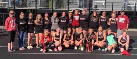 The Harlan County girls team won its sixth straight Area 9 meet on Saturday.