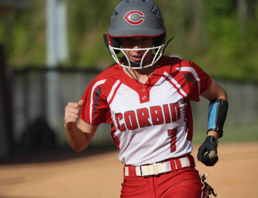 Senior catcher Kaylee Morales had three hits and drove in three runs Friday as the Lady Hounds fell 16-15 at Harlan County. Morales is the daughter of former Cawood High School football standout Tony Morales.