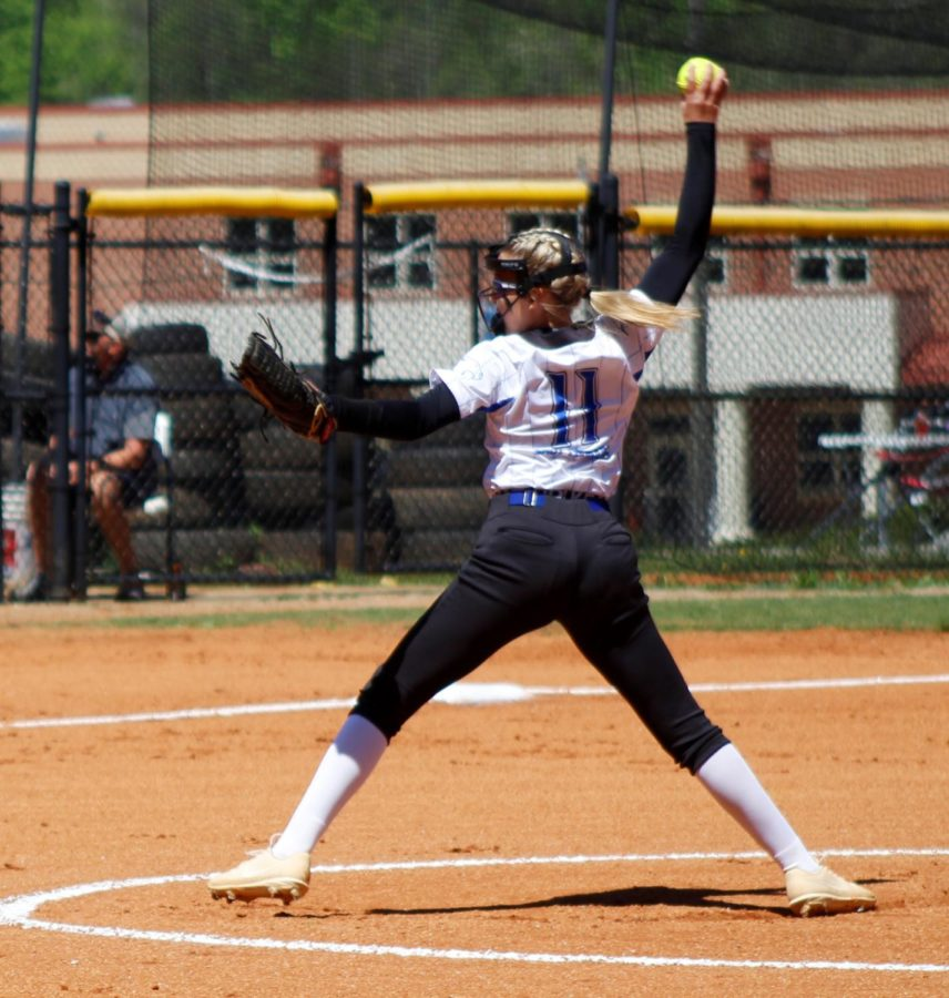 Letcher Central's Alyssa Nicely pitched a four-hitter with nine strikeouts as the Lady Cougars rolled to a 15-5 win Saturday over visiting Harlan County.