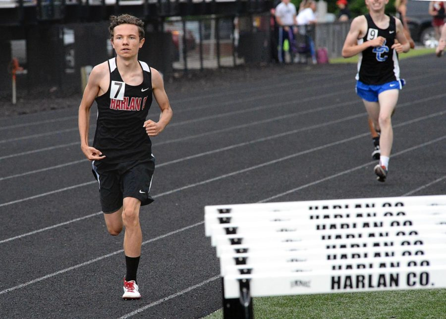 Harlan County's Daniel Joseph competed in the Region 5 meet on Wednesday.