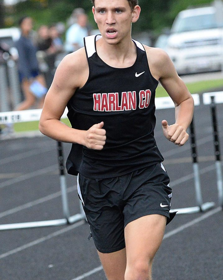 Matt Yeary competed on Wednesday in the Region 5 meet at Harlan County High School.