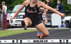 Mekenzie Cornett finished second in the 300-meter hurdles at the Region 5 meet and will advance to state competition.