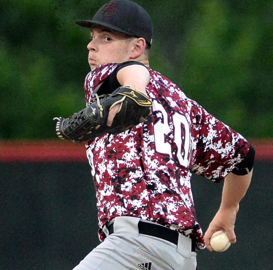 Harlan County's Karsten Dixon prepared to deliver a pitch in Tuesday's 52nd District Tournament championship game against Middlesboro