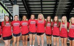 The HCHS girls track team includes, from left: Kelly Beth Hoskins, Lindsey Browning, Mekenzie Cornett, Paige Phillips, Kassy Owens, Taylor Lunsford, Ella Karst, Emilee Eldridge, Taytum Griffin, Abby Vitatoe and Taylor Clem.