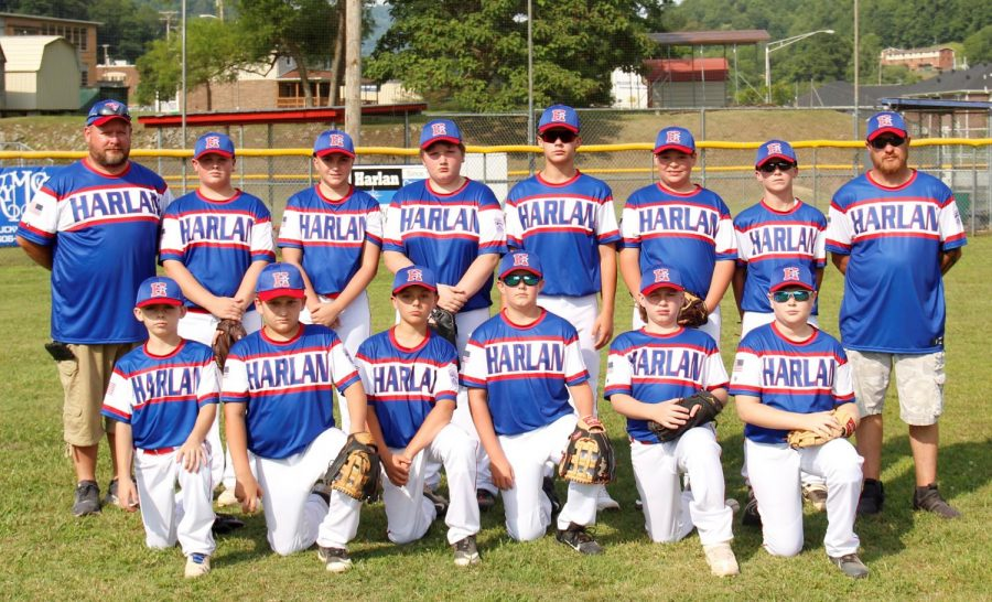 Team members include, from left, front row: Brody Brock, Caiden Jackson, Zach Boggs, Jesse Gilbert, Cameron Brock and Bryson Kelly; back row: coach Brad Shelton, Grant Shelton, Andrew Vance, Win Cooper, Luke Luttrell, Trey Ball, Brayden Morris and coach Michael Sutton