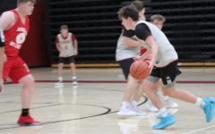 Harlan County freshman guard Maddox Huff, pitcued in action earlier this summer, scored 15 points in a win over Lee County and 14 in a win over Whitley County in scrimmage action Friday.