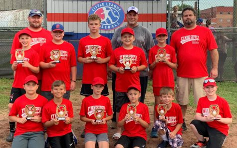 Kentucky Mine Supply won this year's Harlan Little League regular season title. Team members include, from left, front row: Jackson Mackowiak, Carson Yount, Cooper Thomas, Micah Shope, Hayden Allen and Micah Tolliver; middle row: Trey Creech, Grant Shelton, Luke Luttrell, Caiden Jackson and Grant Lee; back row: coaches Brad Shelton, Ross Mackowiak and Conrad Thomas.