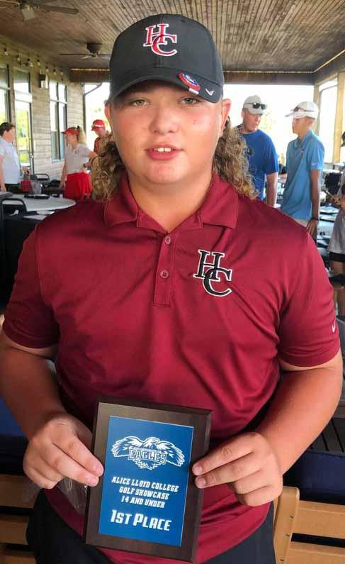 Harlan County High School golfer Brayden Casolari, an eighth-grader at Cumberland Elementary School, won the Alice Lloyd Golf Showcase at the Stonecrest Golf Course in Prestonsburg.