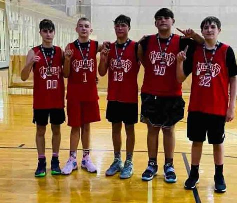 The Harlan County Grizzlies won a tournament on Saturday at Carson-Newman University. Team members, from left, include Connor Daniels, Terry Michael Delaney, Hunter Napier Jaycee Carter and Brody Napier.