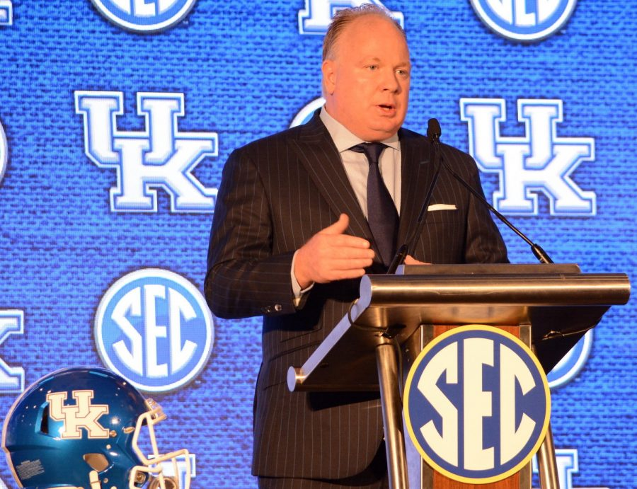 Coach Mark Stoops says Kentucky is on a good path.