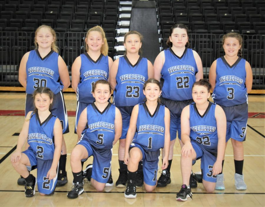 Team members include, from left, front row: Bailey Burkhart, Jayla Dillman, Gracie Youngs and Anessia Carroll; back row: Mylee Botts, Dani Bennett, Carly Turner, Madison Wehner and Kelsie Middleton.