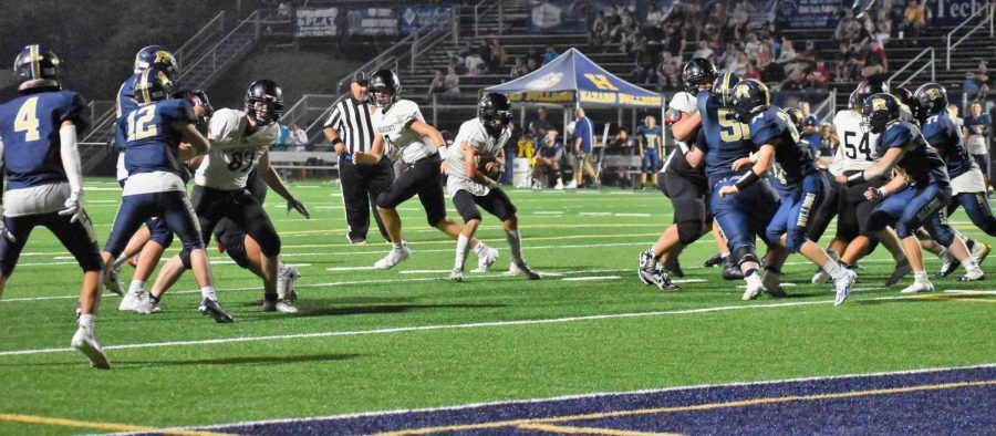 Harlan County running back Thomas Jordan found an opening in the Hazard defense for a touchdown in Fridays game.
