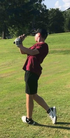 Harlan County seventh-grader Cole Cornett, pictured in action earlier this season, tied for third in a tournament Thursday at the Indian Springs course in Barbourville.