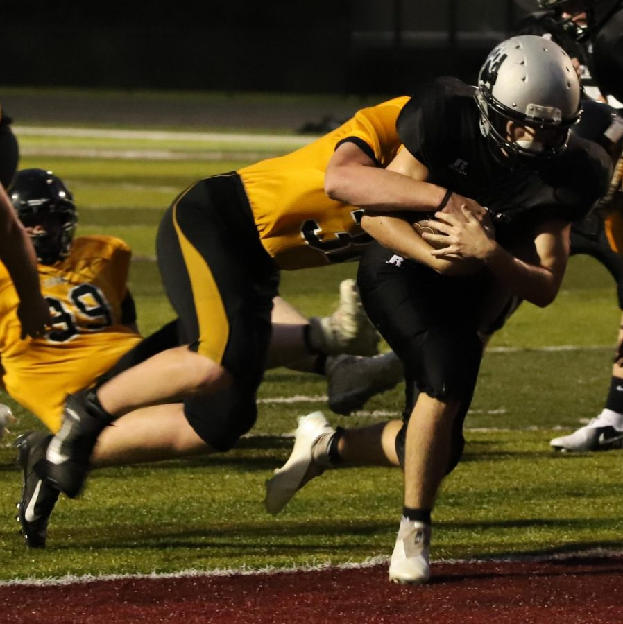 Harlan Countys Gage Bailey, pictured in action earlier this season, ran for 100 yards and passed for 85 as the Bears fell 18-8 to Knox Central on Tuesday in Barbourville.