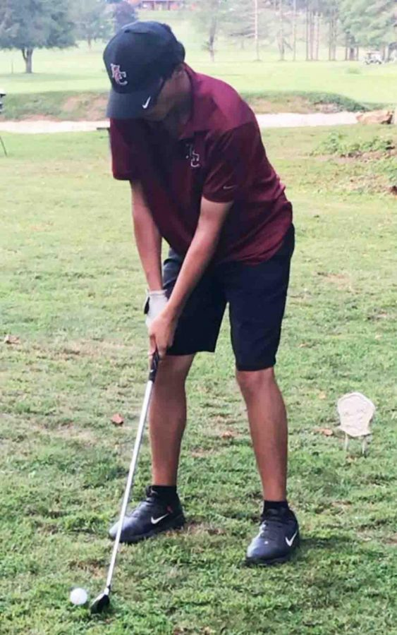 Harlan Countys Matt Lewis finished fifth in a tournament Thursday at the Middlesboro Country Club.