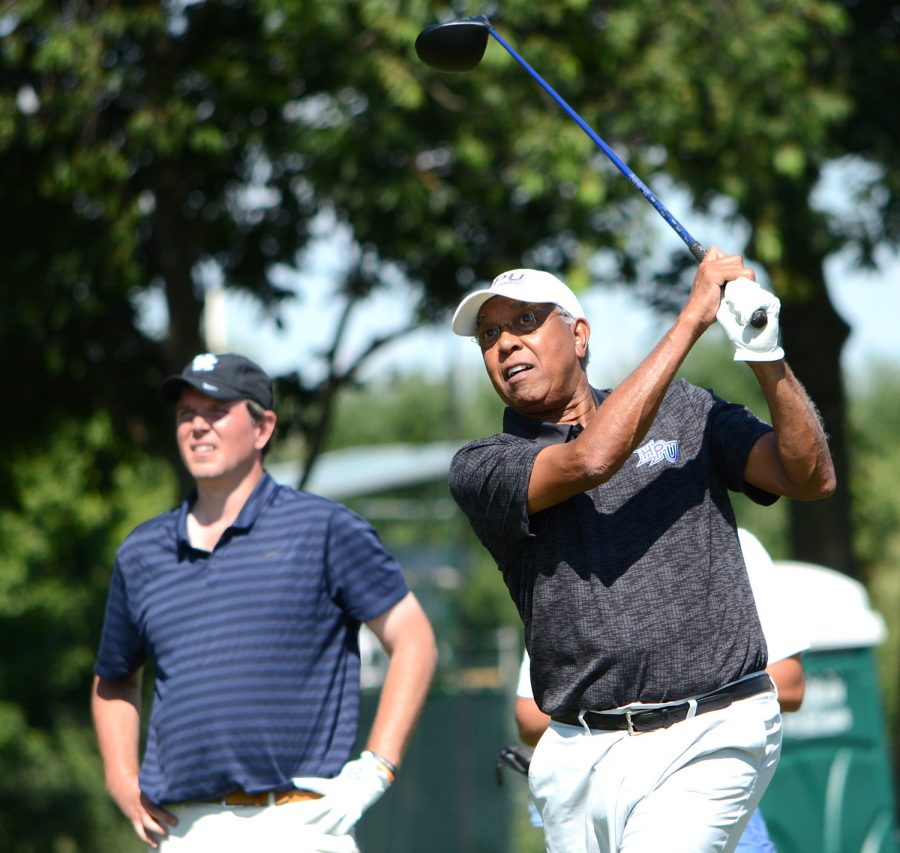 Tubby Smith watched his tee shot from the No. 11 tee box during a Pro-Am event ahead of the Barbasol Championship two years ago.