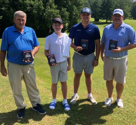 The team of Pete Cornett Sr., Cole Cornett, Brett Widner and Pete Cornett Jr. won the Black Bear Invitational four-man scramble on Saturday at the Harlan Country Club.