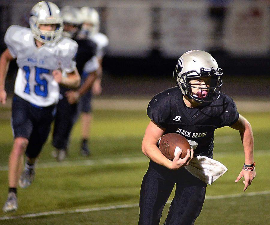 Harlan+County+running+back+Jayce+Brown+is+pictured+in+action+earlier+this+season.+The+Bears+fell+20-14+on+Monday+at+North+Laurel.
