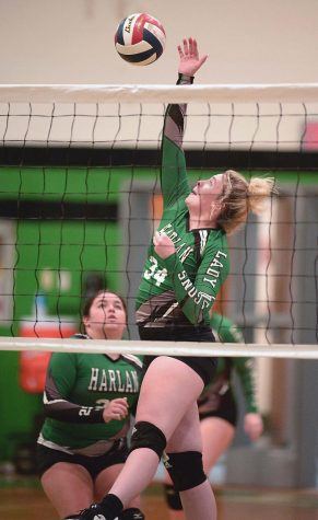 Harlans Marissa Marlowe went to the net to finish a point against Middlesboro earlier this season. The Lady Bears defeated Middlesboro again on Tuesday and will play host to Bell County on Monday and Harlan County on Tuesday.
