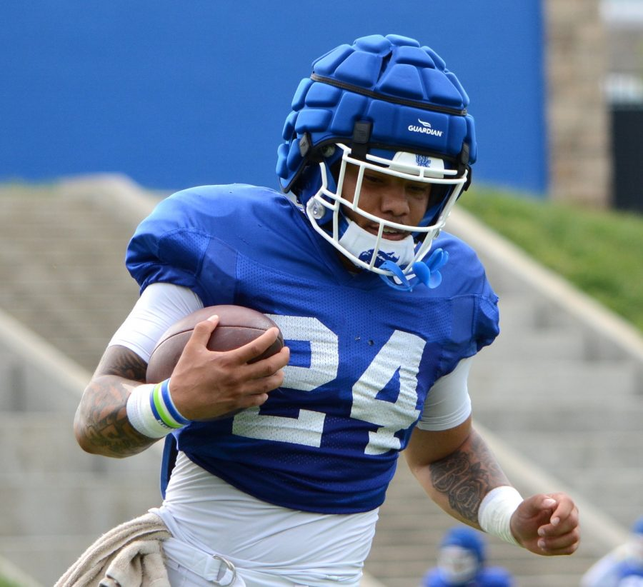 Kentucky running back Chris Rodriguez has high expectations going into this season.