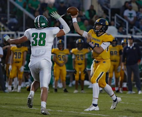 Sayre quarterback Cole Pennington, who will play his college football at Marshall, threw for a pair of touchdowns on Friday in a 42-0 win over visiting Harlan.