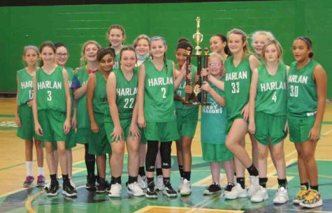 The Harlan Lady Dragons won the 13th Region All A Classic league title on Saturday with a 40-24 victory over Pineville to complete a perfect season.