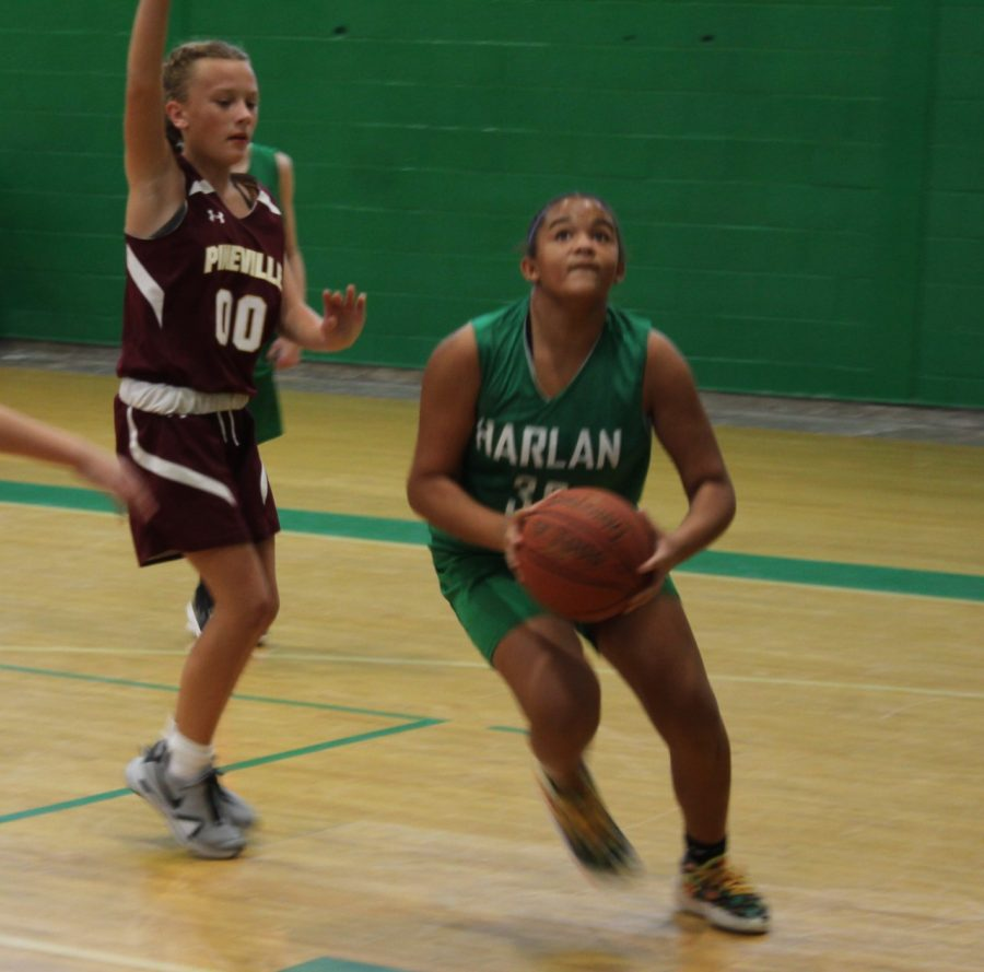 Peyshaunce Wynn scored 15 points in Harlans 40-24 win over Pineville in the All A Classic league finals.