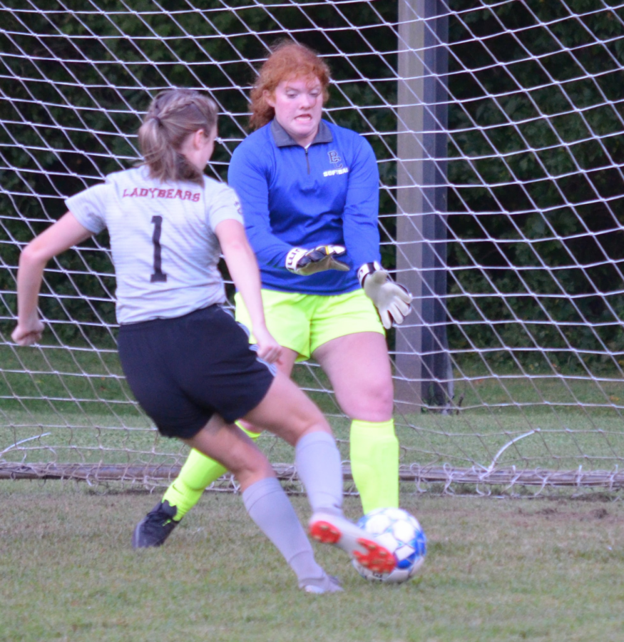 Hannah Gaw had four goals in Harlan Countys 11-1 win over visiting Bell County last week.