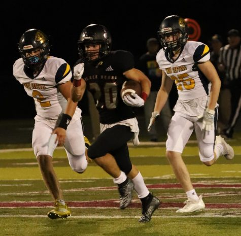 Harlan County sophomore Thomas Jordan broke free for a 70-yard kickoff return in Fridays game against visiting Knox Central.