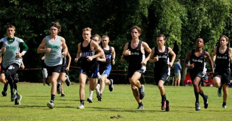 Runners left the starting line on Saturday in the Harlan County All-Comers race.