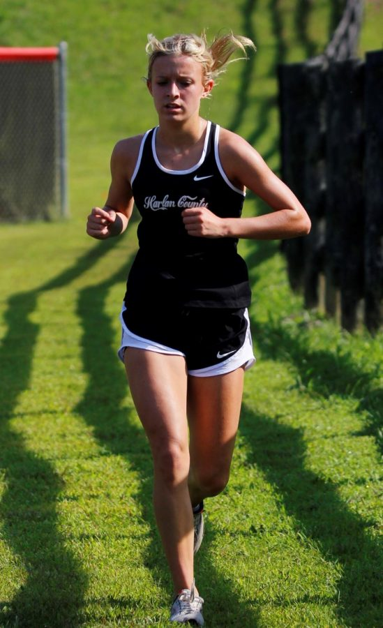 Harlan County's Peyton Lunsford place second in the Harlan County All-Comers race on Saturday.
