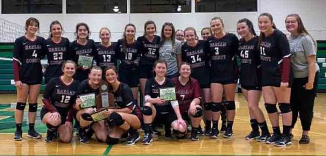 The Harlan County Lady Bears fell to Bell County in five sets on Tuesday in the 52nd District Tournament finals at Harlan.