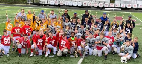 The Harlan County Pee-Wee Football League season came to an end Saturday. Members of all four teams are pictured after the trophy presentation.