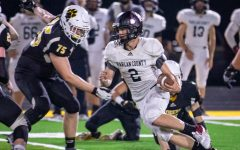 Jonah Swanner had a touchdown catch for Harlan County in a loss Friday at Johnson Central.